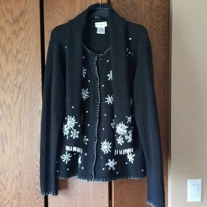 White Stag Black Snowflake Sweater